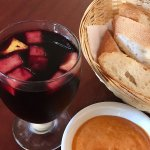Sangria, Bread and Garlic dipping sauce