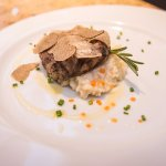 Grilled Australian Angus Beef Tenderloin, Parmesan Risotto and Fresh Black Truffle