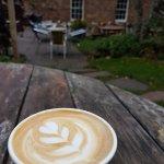 Latte in the garden