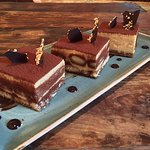 A light tiramisu with a balance between the coffee and liqueur flavours.