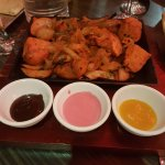 Chicken tikka fresh from the Tandoor