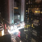 View of Time Square from our room.