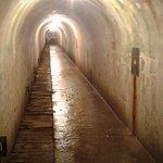 Long hallway in upper level of bunker complex