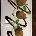 Haggis bon-bons with whisky sauce - very more-ish