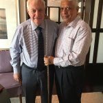 Sir Chris Patten with Manu
