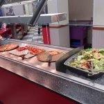 The pizza and salad bar.