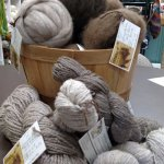 Exclusive bison yarns and fibers available.