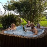 Hot tub available year round for B&B and self catering guests
