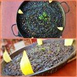 El arroz negro lo hacemos con la tinta del calamar y es la especialidad de la casa. Delicioso!!