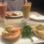 Eggs Royale, Steak & eggs and smoothies