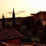 Sunset at Castel Monastero