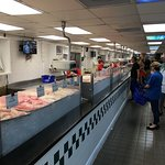 The seafood counter is the entire length of the market!