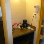 Tea/coffee making area in our room