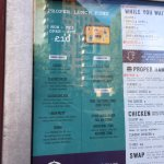 The lunch menu that doesn't exist inside the restaurant