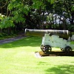 a cannon for unwelcome guests