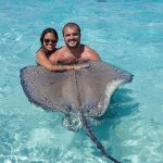At Sting Ray City - taken by Acquarius