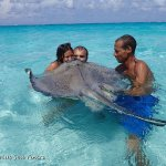 Getting 7 years good luck w/ a sting ray kiss! - taken by Acquarius