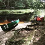 On a canoe trip in Keji's backcountry!