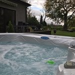 Our hot tub is shared between Cysgod Bach for 2 and Caban y Saer also for 2