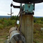 Remnants of the old ski lift.