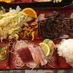 Short Ribs and Sashimi Bento Box