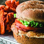 Our chicken burgers are 100% natural chicken breast