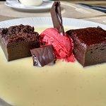 Brownie con crema irlandesa