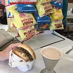 sandwich and shake