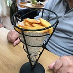 """A Cone of chips in a Frame"""