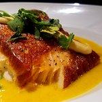 Seared Tuna togarashi-spiced ahi tuna, cool soba noodle salad, spicy aioli, soy glaze and scalli