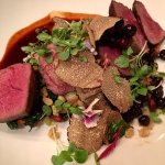 Venison with huckleberries and TRUFFLE