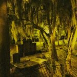 Creepy picture taken on the ghost tour at Colonial Park Cemetery.