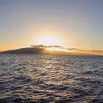 Sunset over Lanai Aboard Quicksilver Sunset Dinner Cruise From Lahaina