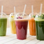 Refreshing variety of smoothies