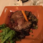 Duck Confit with Cherry Port and wild rice medley