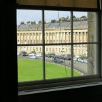 View from the bedroom upstairs of the Royal Crescent