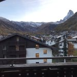 From my balcony looking at the Matterhorn. Potato fondue for dinner at the hotel restaurant. Yum