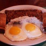 Cornhash and eggs