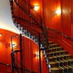 A wonderful historic staircase within the hotel
