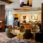 The Crowne Plaza Kansas City features a full service Starbucks