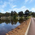 Driveway and lake