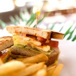 Our Club Sandwhich is a perfect afternoon snack. Enjoy while sipping an iced tea poolside.