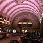 The historic St Louis Union Station Grand Hall at the front of the hotel