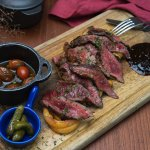 SPICED STEAK WITH CHERRY TOMATO SALSA
