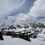 Natural Scenery of Snow covered Medicine Bow National Forest, Wyoming.