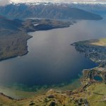 Aerial view of Lake Te Anau