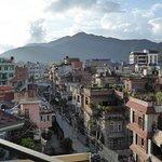 Vue sur Katmandou depuis la terrasse