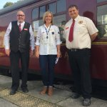 Tom Tait & Leigh Gration with BBC presenter Sally Pepper