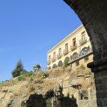 Parador as seen from underneath Ponte Nuevo
