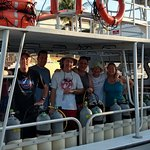 Here is our group getting ready for our 1st dive
